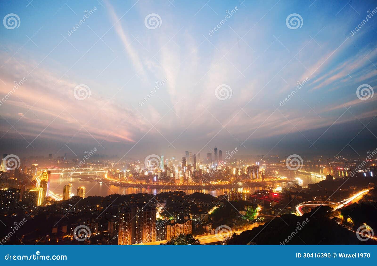 Noc widok Chongqing