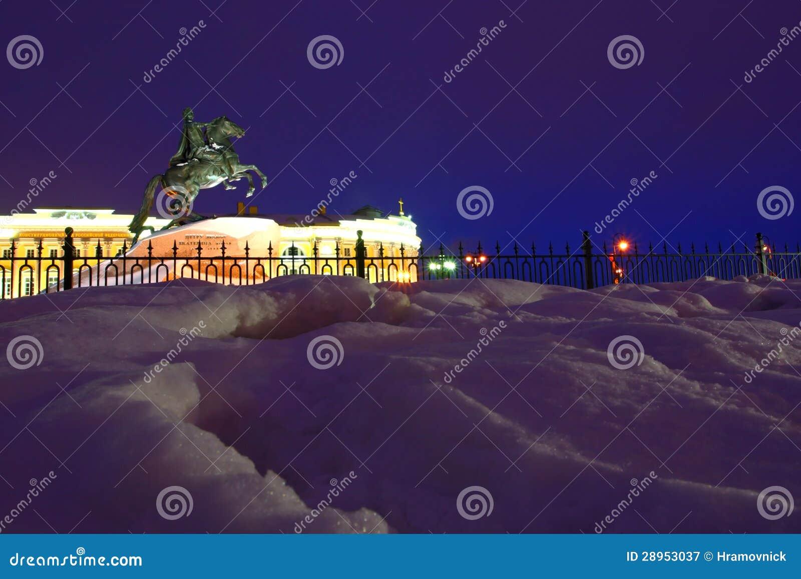 Noc widok St. Petersburg