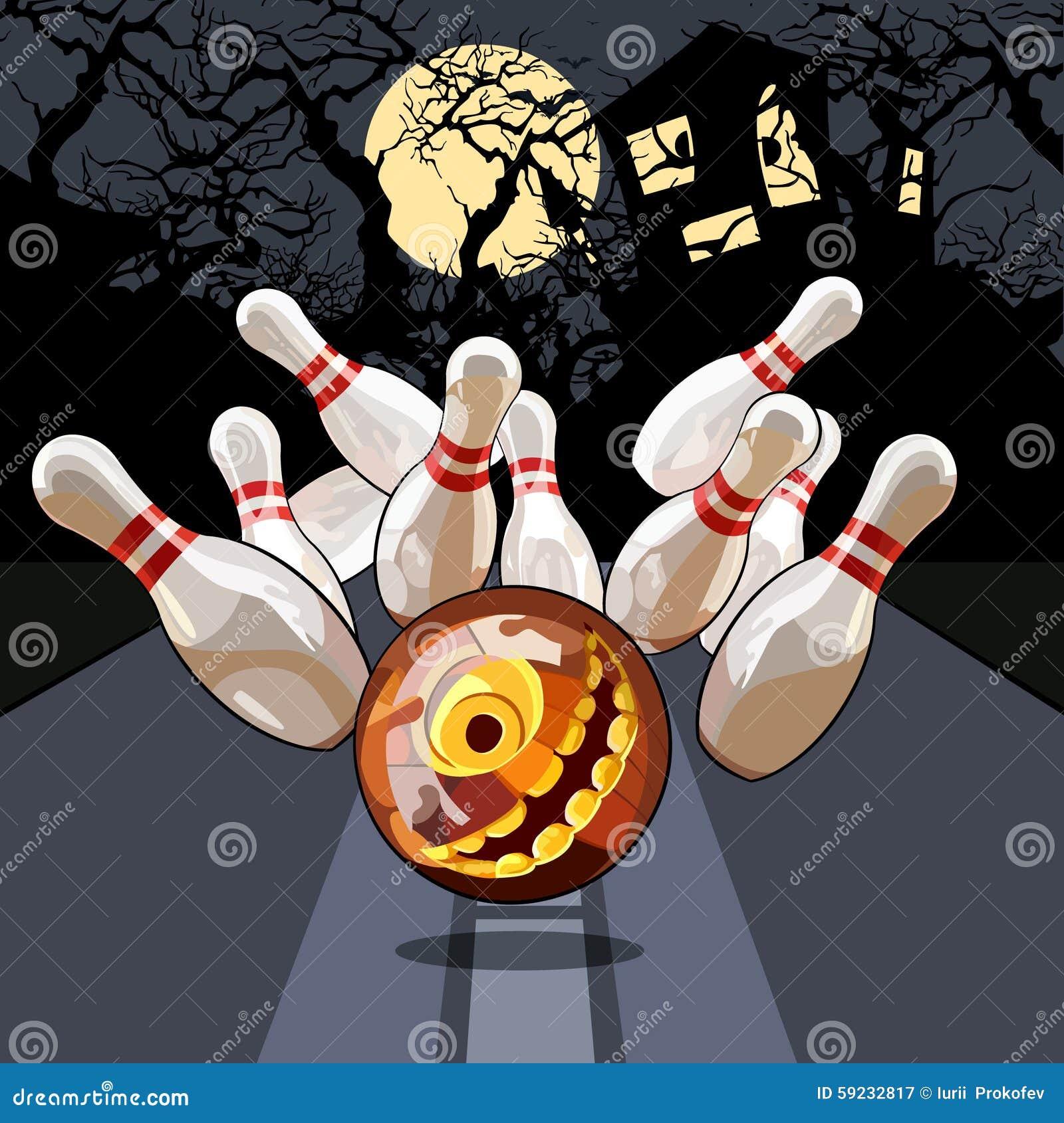 Noche de los bolos en Halloween