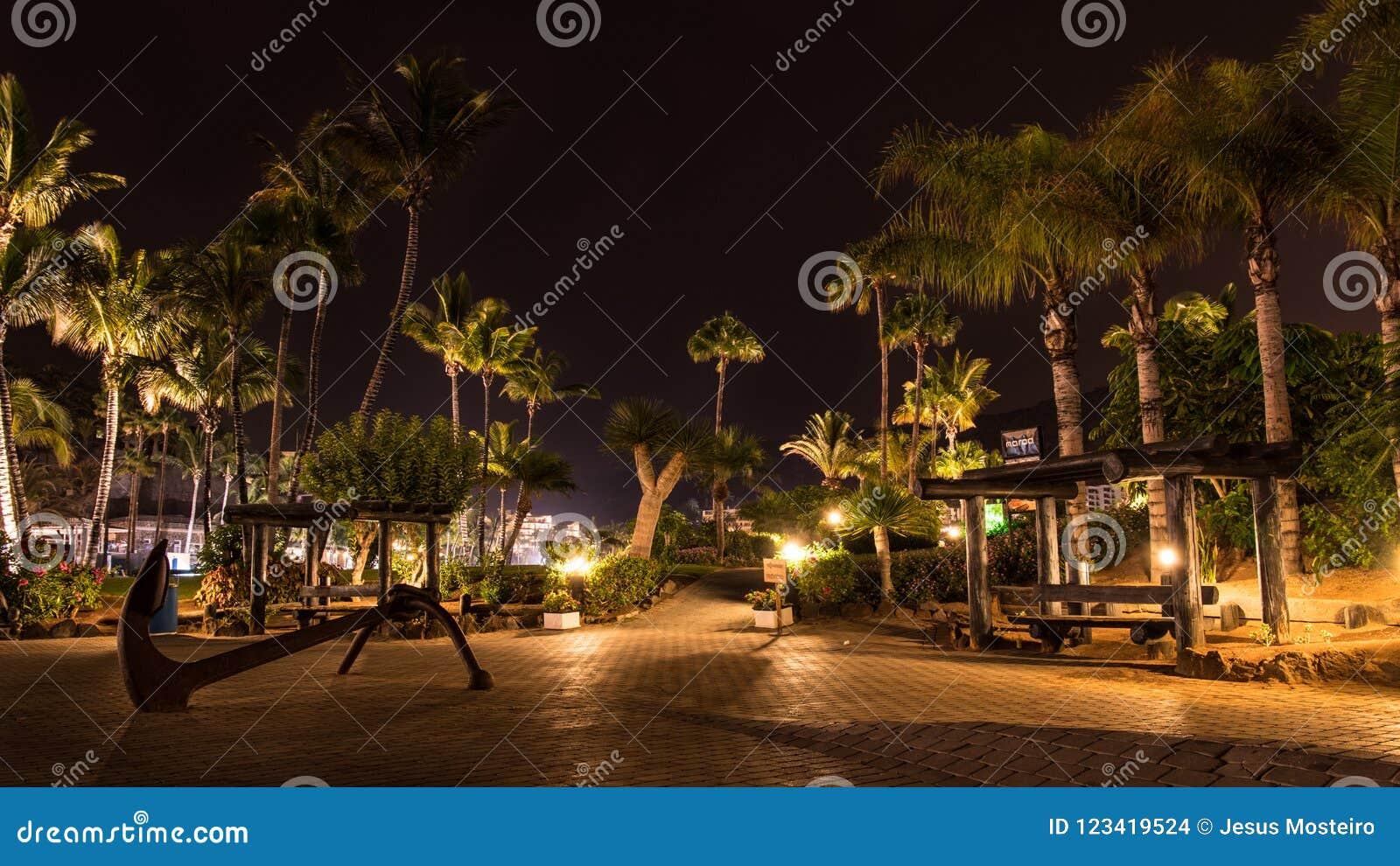 Noche de verano en la isla de Gran Canaria España