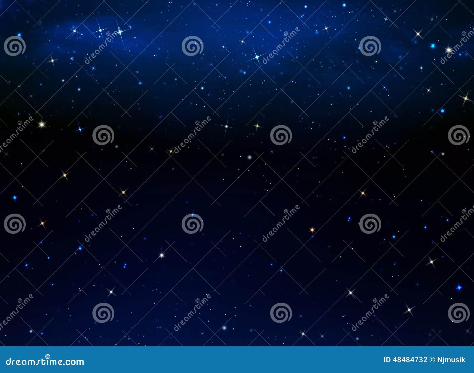 Nocne niebo gwiaździsty