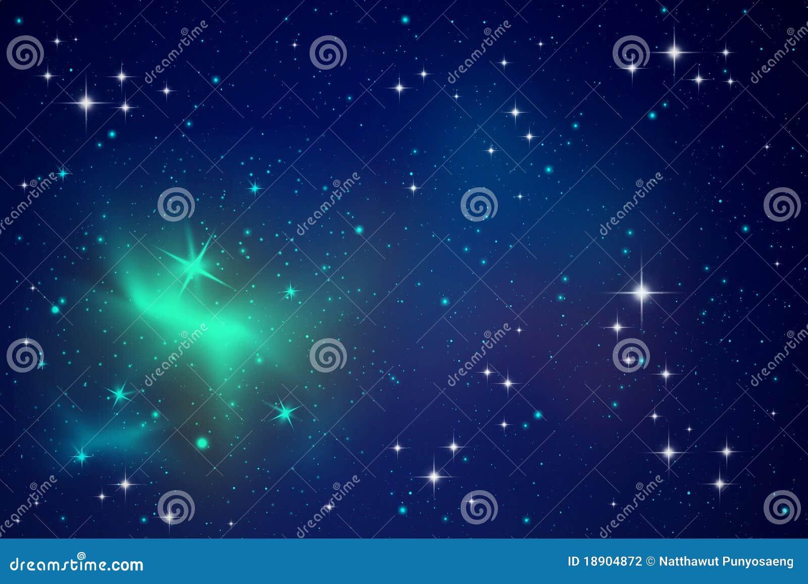 Nocne niebo oświetleniowe gwiazdy