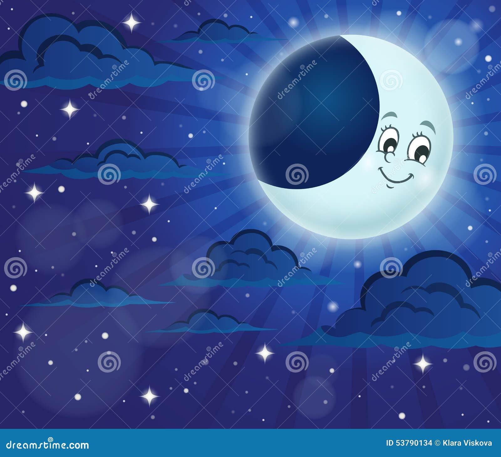 Nocne niebo tematu wizerunek 6