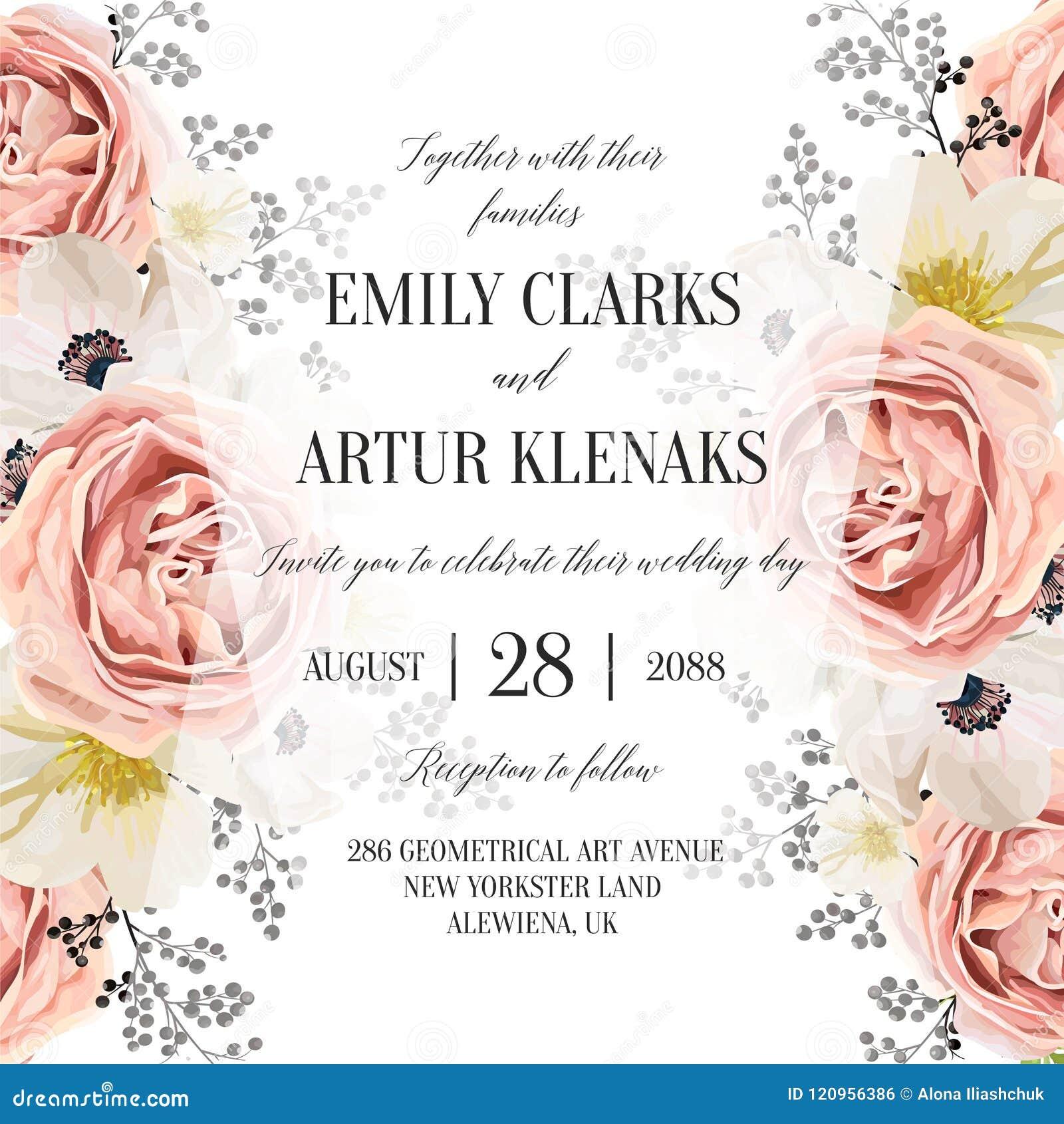 Nodigt de huwelijks bloemenwaterverf, uitnodiging, sparen de datumkaart uit