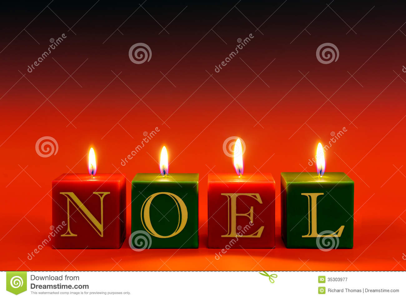 noel candles stock image image of copy cube square 35303977