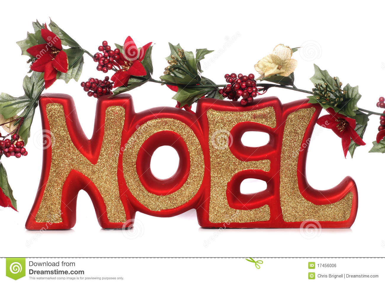 Noel christmas decoration stock photo image of gold for Decorations exterieures de noel