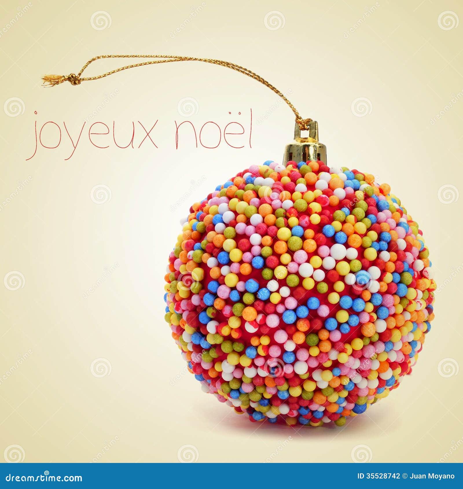 Noel De Joyeux Feliz Natal Em Francês Foto De Stock