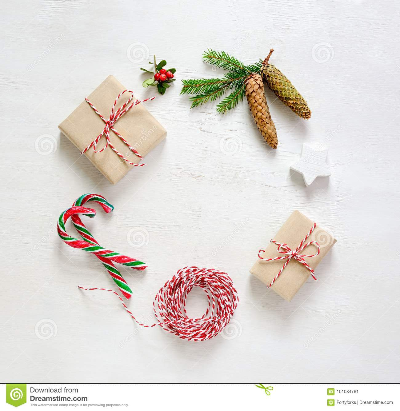 Noel Or New Year Greeting Card Template Stock Image ...