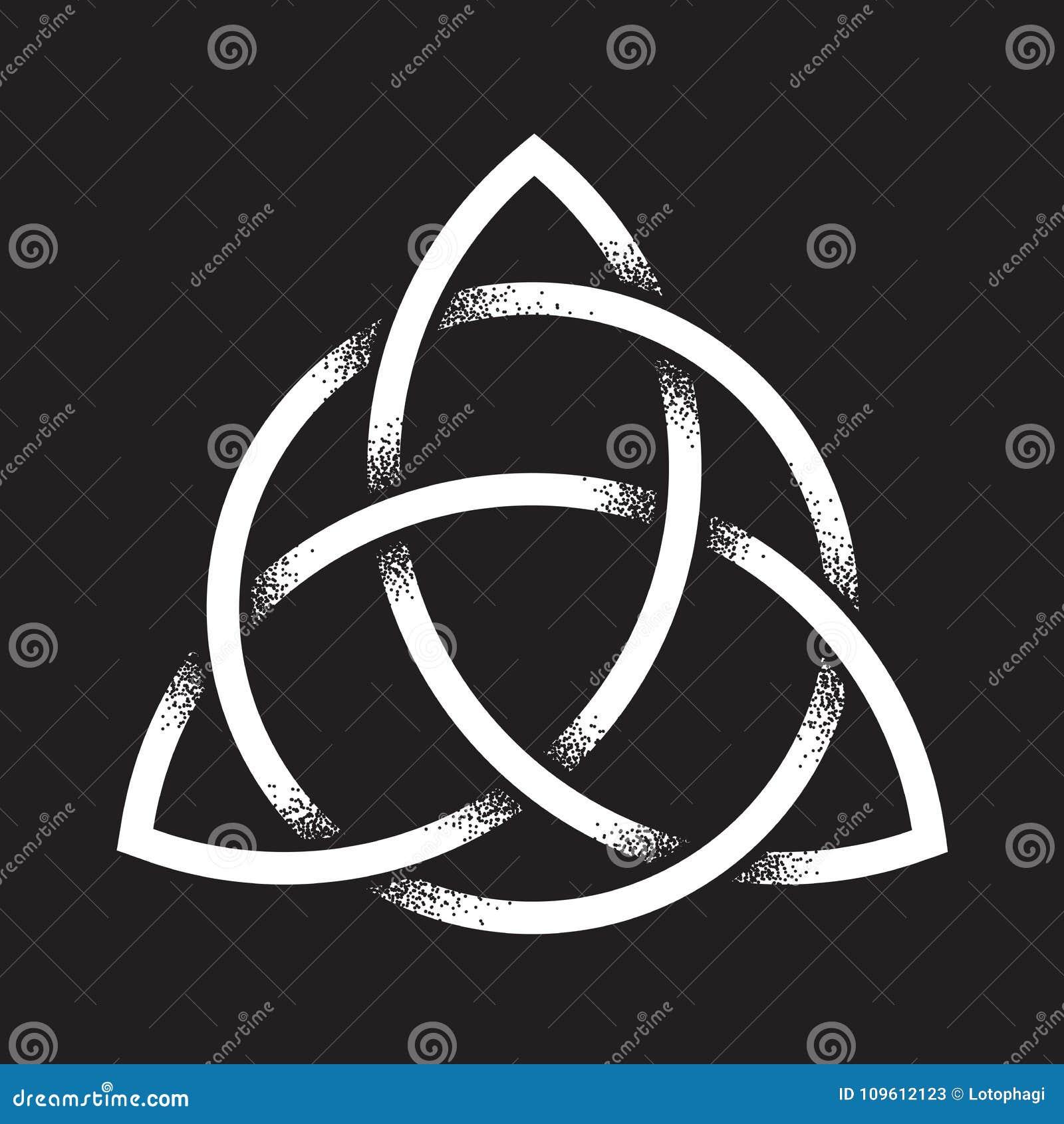Noeud De Triquetra Ou De Trinité Le Symbole Païen Antique De Travail