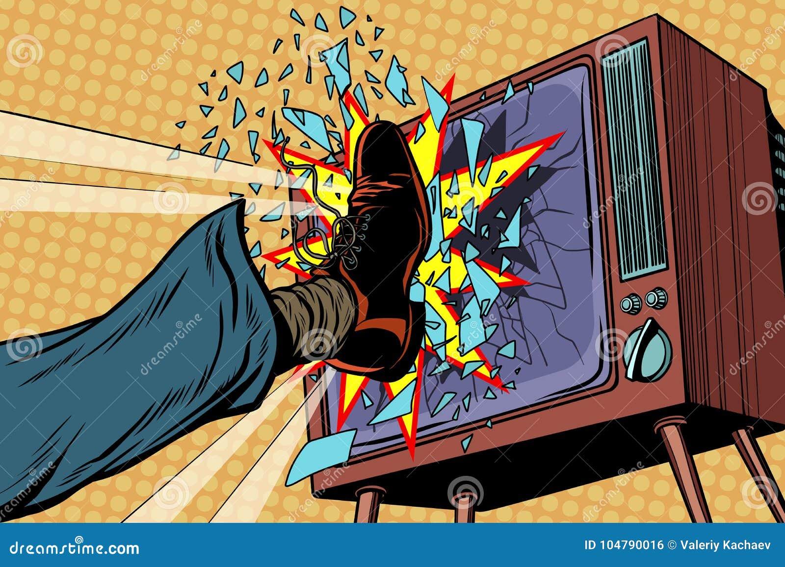 Noga łama TV, pojęcie sfałszowana wiadomość