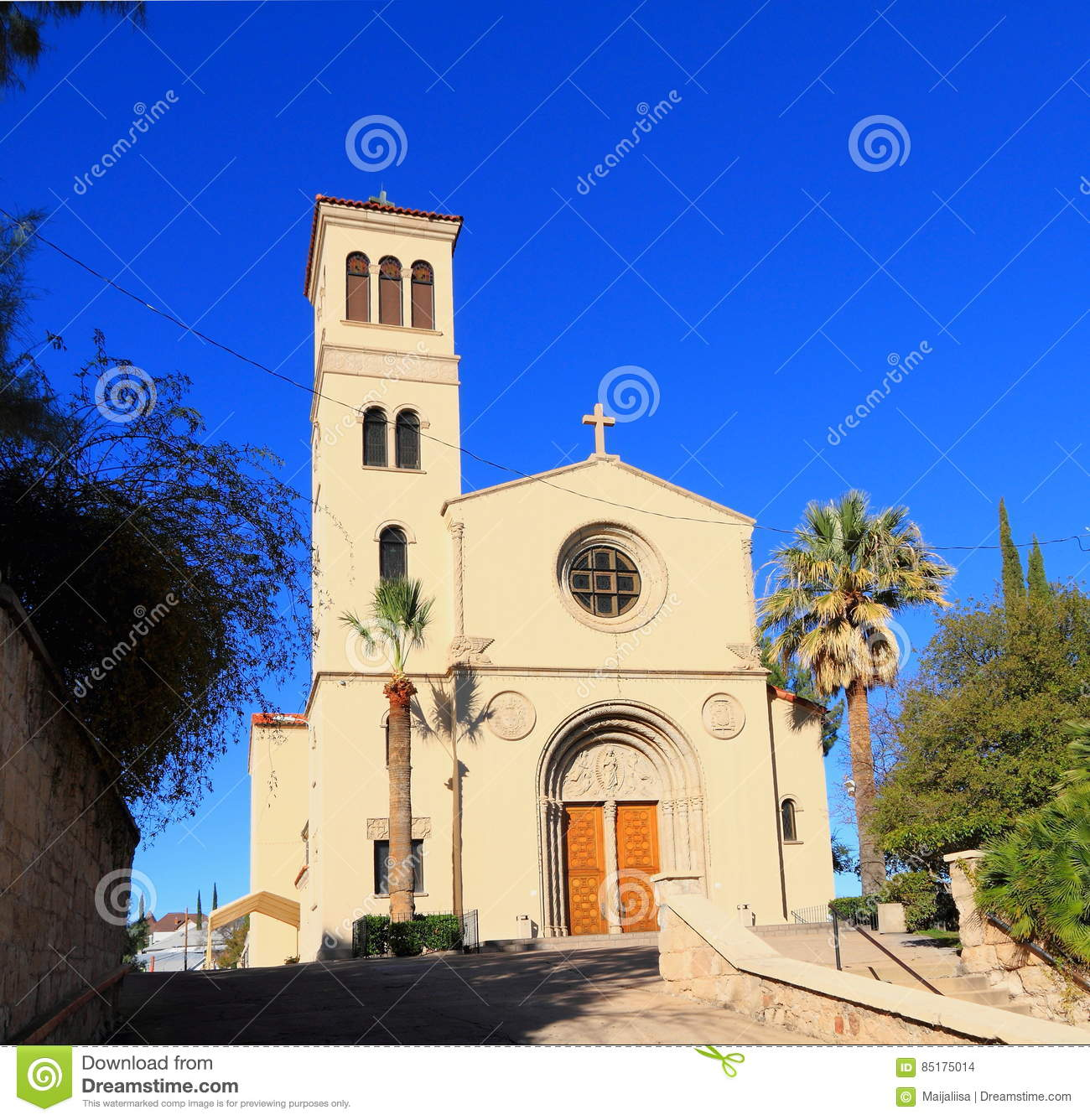 Nogales Arizona Sacred Heart Of Jesus Church Stock