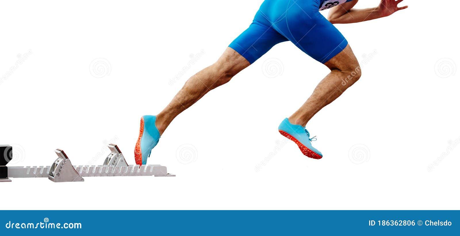 Nogi Meski Biegacz Sprintera Start Wyscig Zdjecie Stock Obraz Zlozonej Z Tlo Bieg 186362806