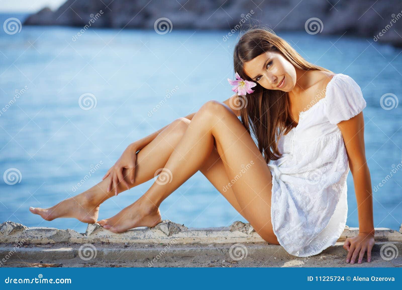 Nogi piękny żeński schudnięcie