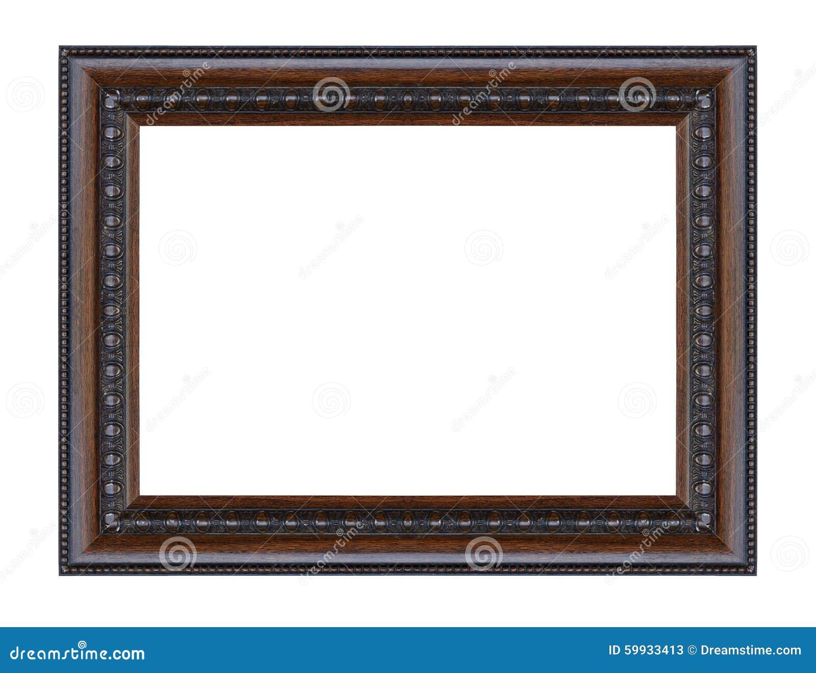 Noir antique support en bois découpé décoratif d isolement vieux par cadre
