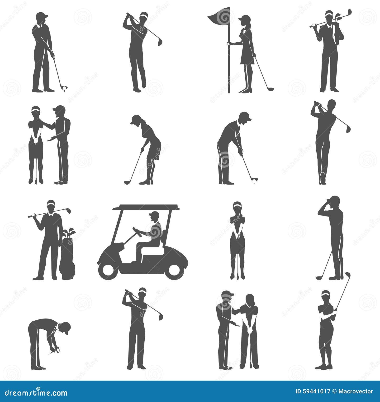 Noir de personnes de golf