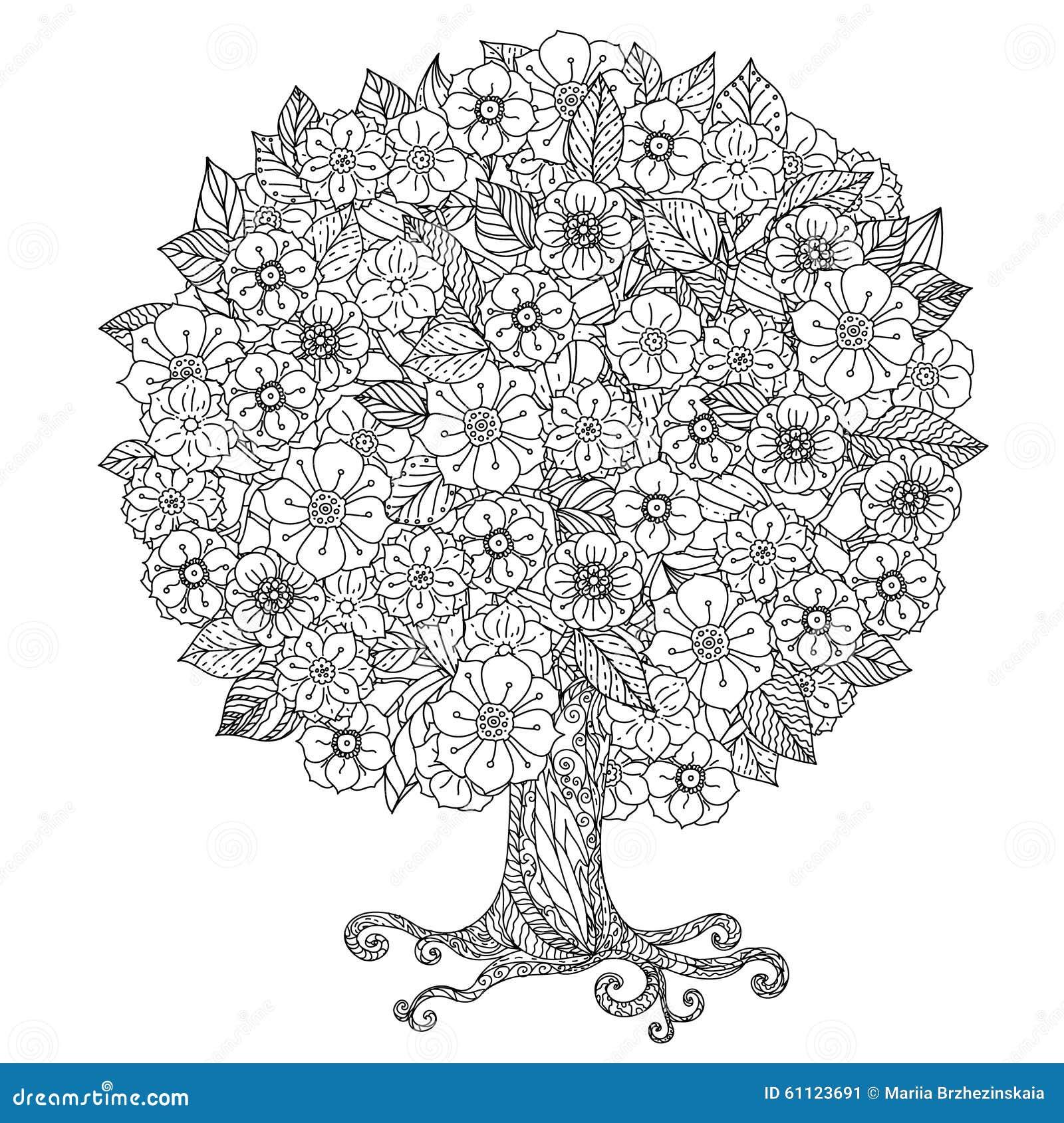 Noir Et Blanc Floral De Lu0026#39;orient De Cercle Illustration de Vecteur ...