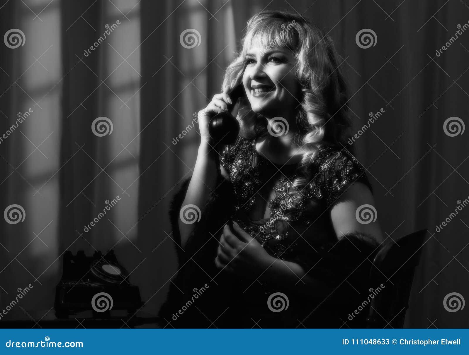 Noir kvinna för film