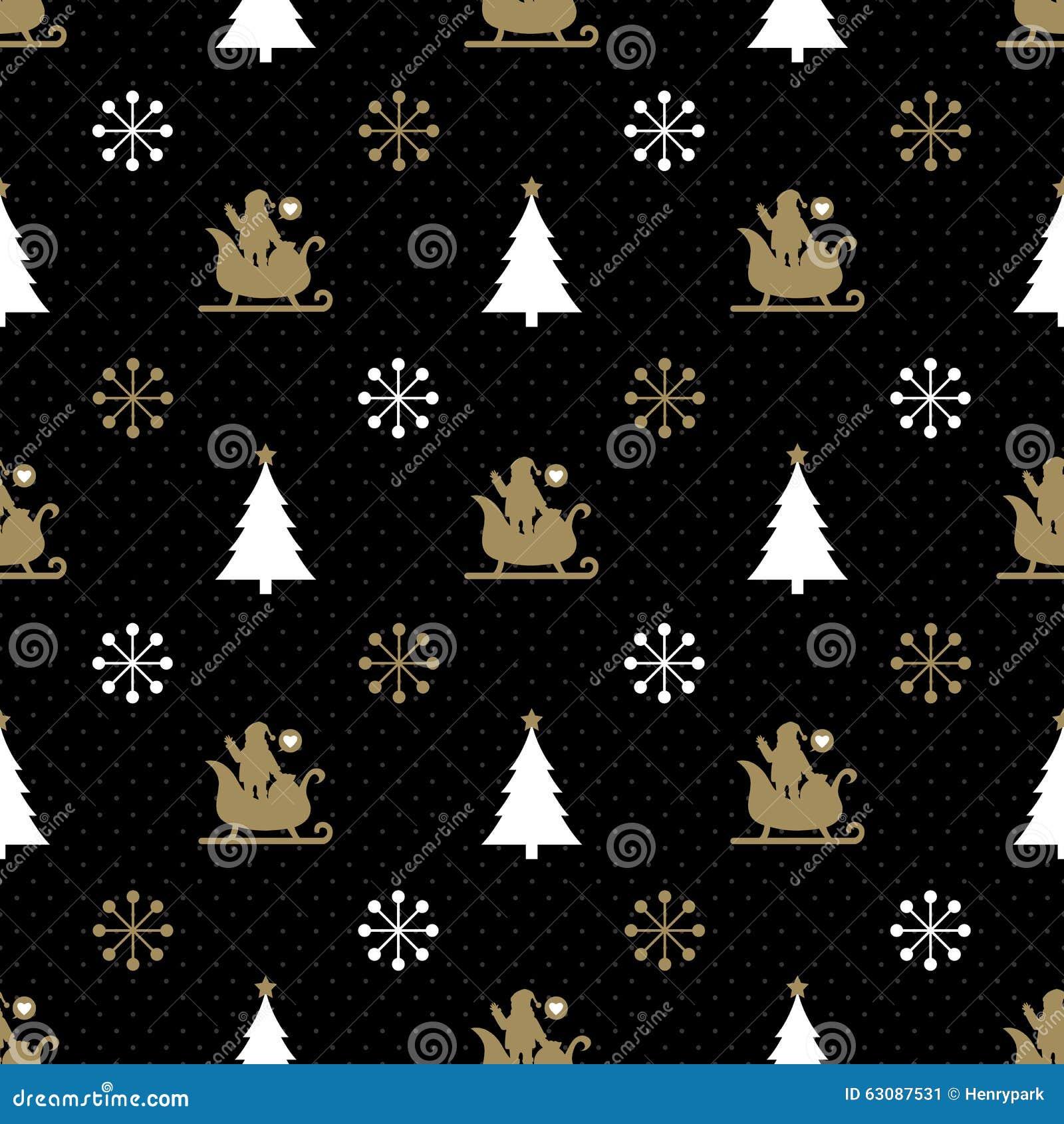 Download Noir Sans Couture Et Or De Noël Illustration de Vecteur - Illustration du classique, vacances: 63087531