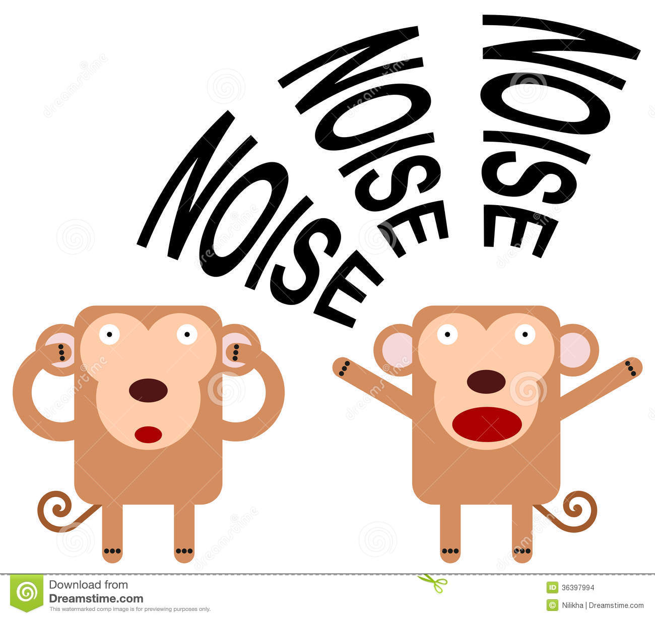 Noisy monkey stock illustratio...