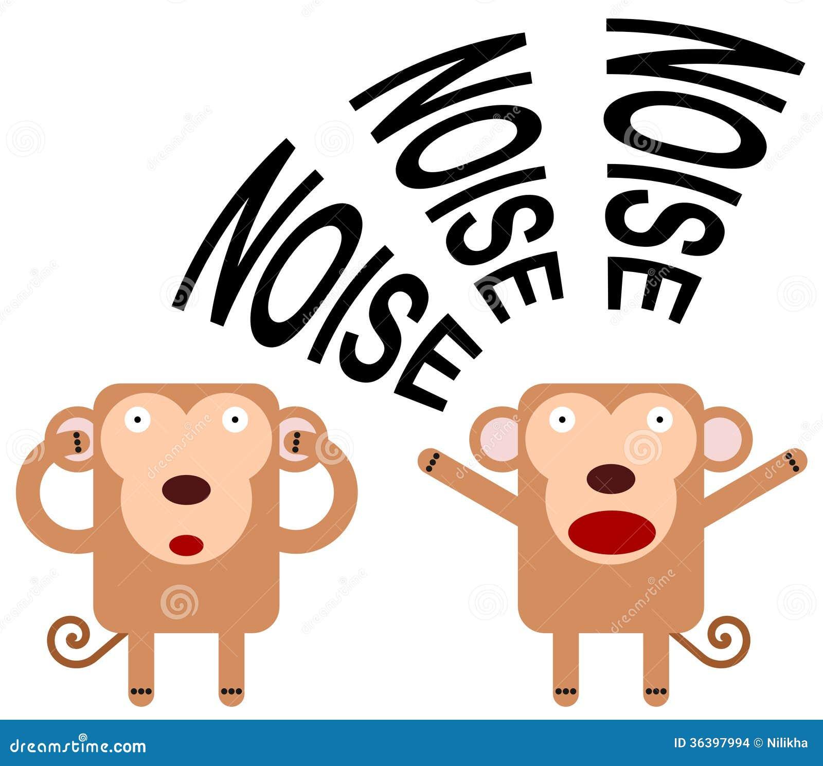 Noisy Monkey Stock Illustration Illustration Of Loud