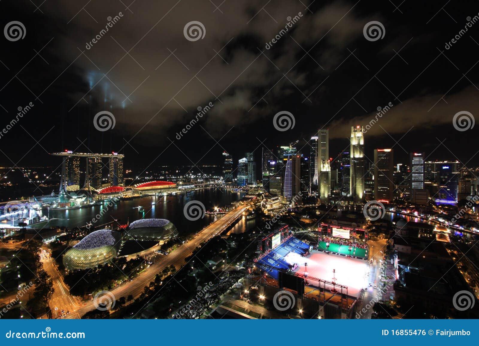 Noite da skyline do louro do porto