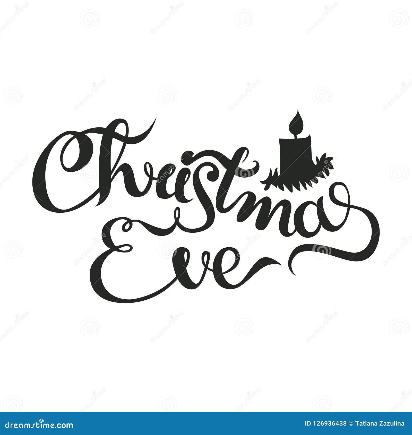 Noite De Natal Frase Da Caligrafia Do Feriado Do Natal Da