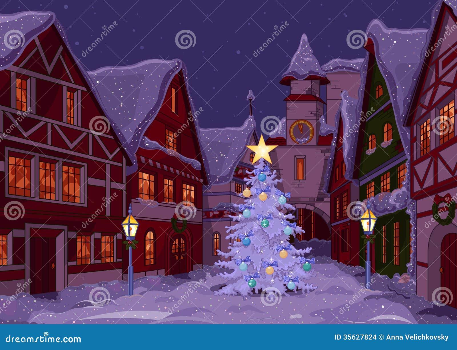 Noite de Natal na cidade
