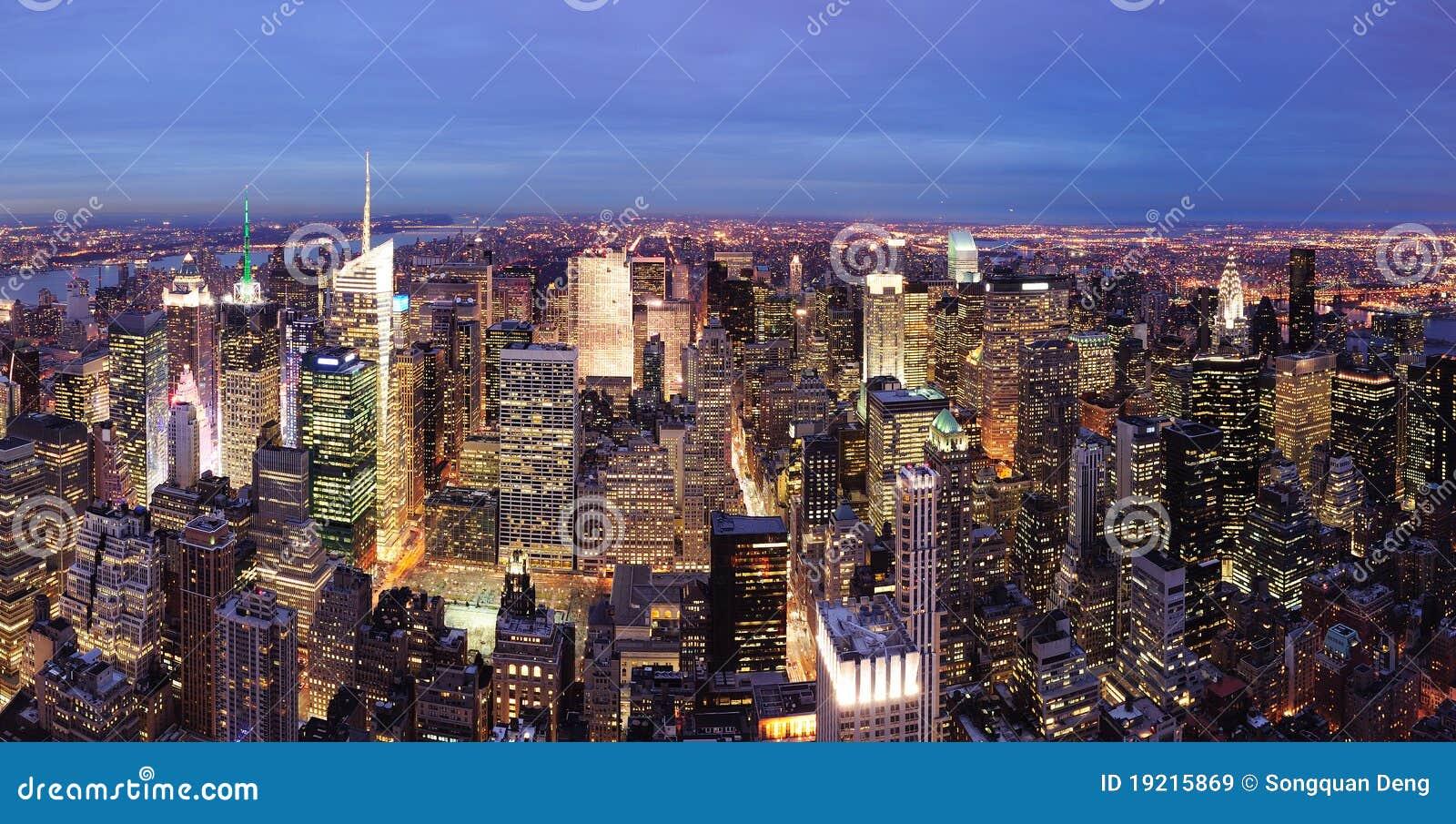 Noite do Times Square de New York City Manhattan