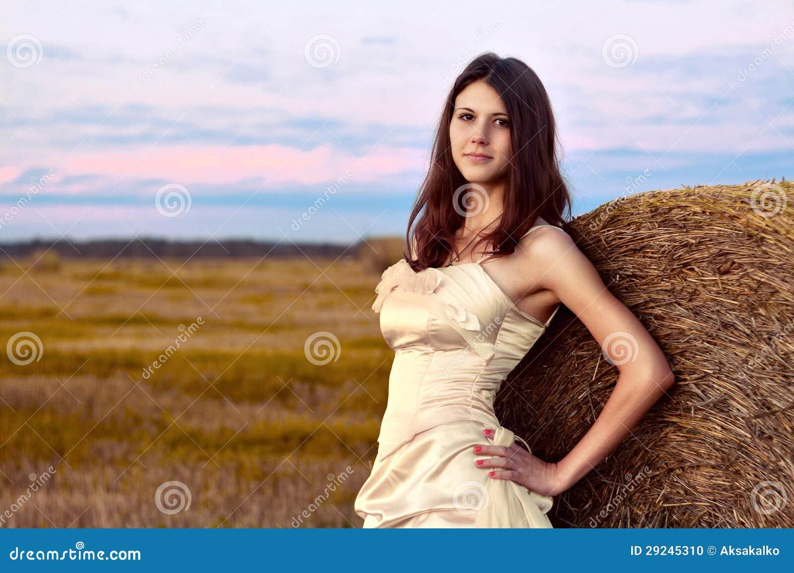 Download Noiva bonita no por do sol foto de stock. Imagem de alegria - 29245310