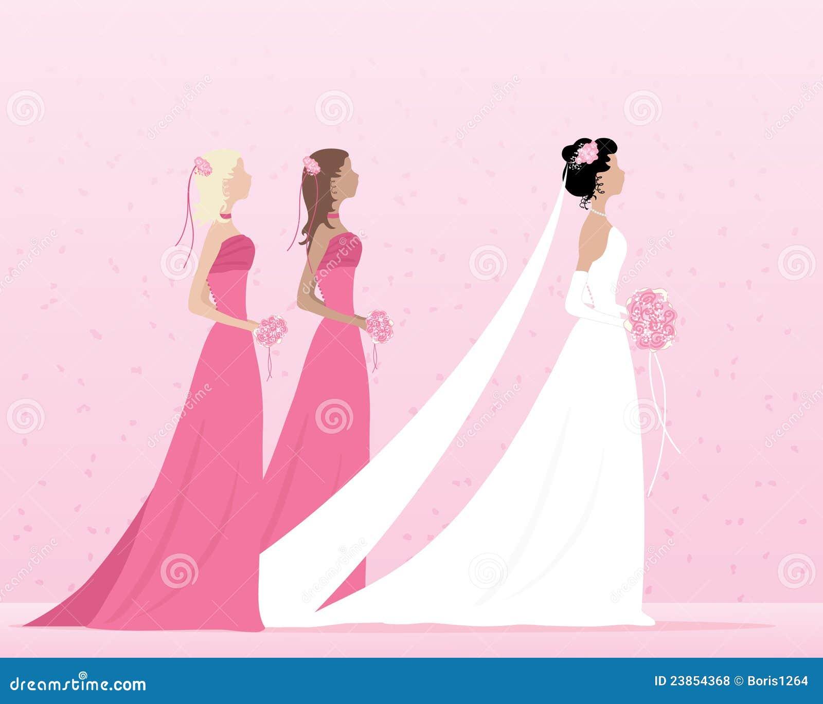 Noiva E Damas De Honra Fotos de Stock Royalty Free ...