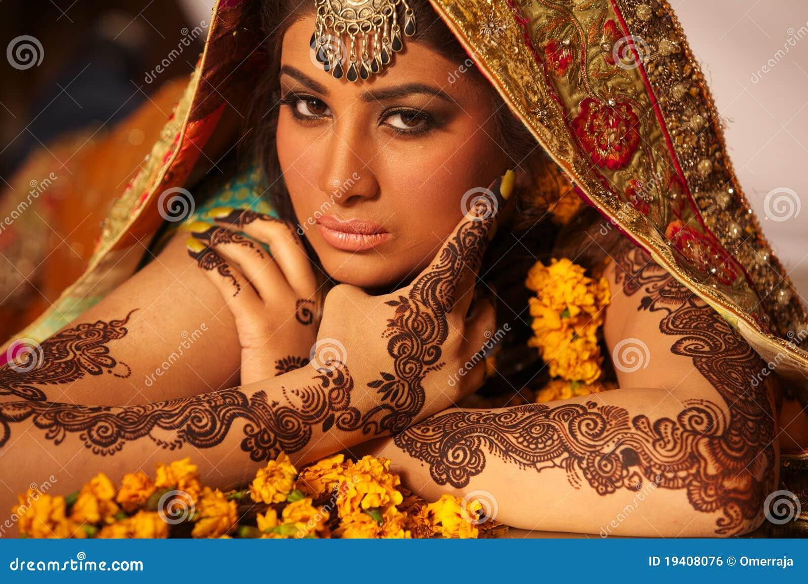 Noiva indiana bonita