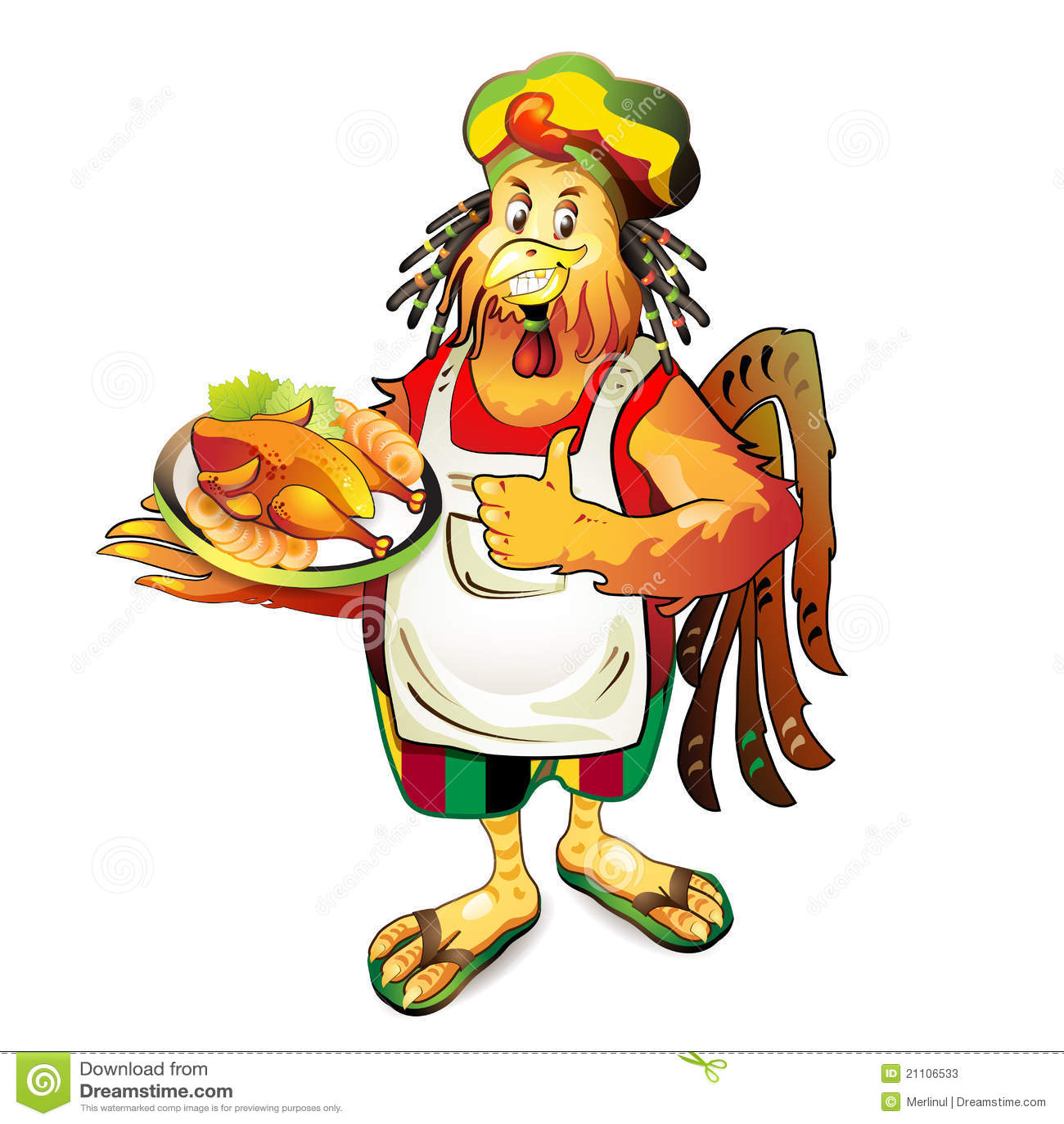 Noix de coco de cuisinier de dessin anim photos stock for Cuisinier xviii