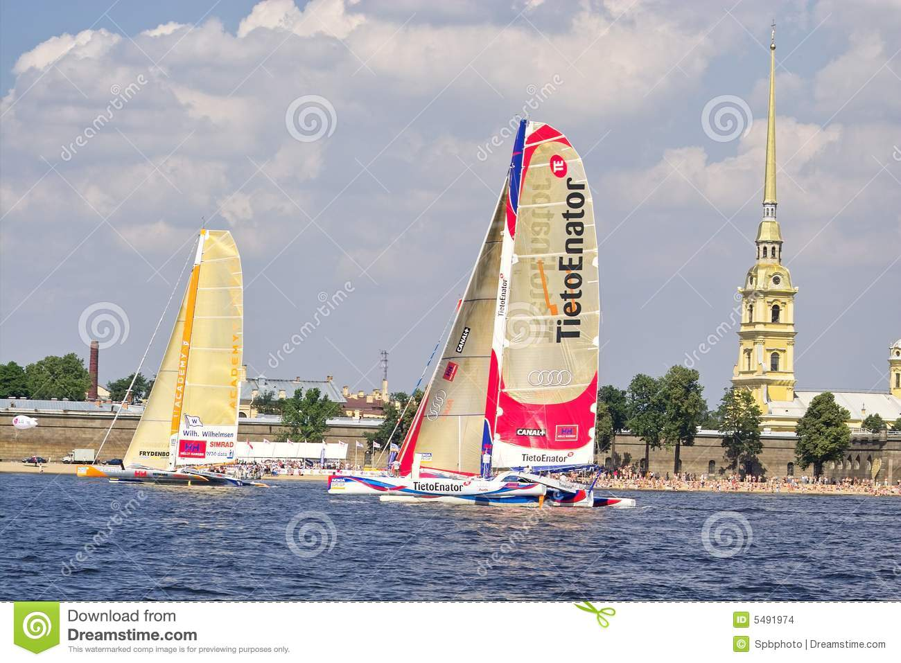 St petersburg city race neva river russia 16th of july 2005