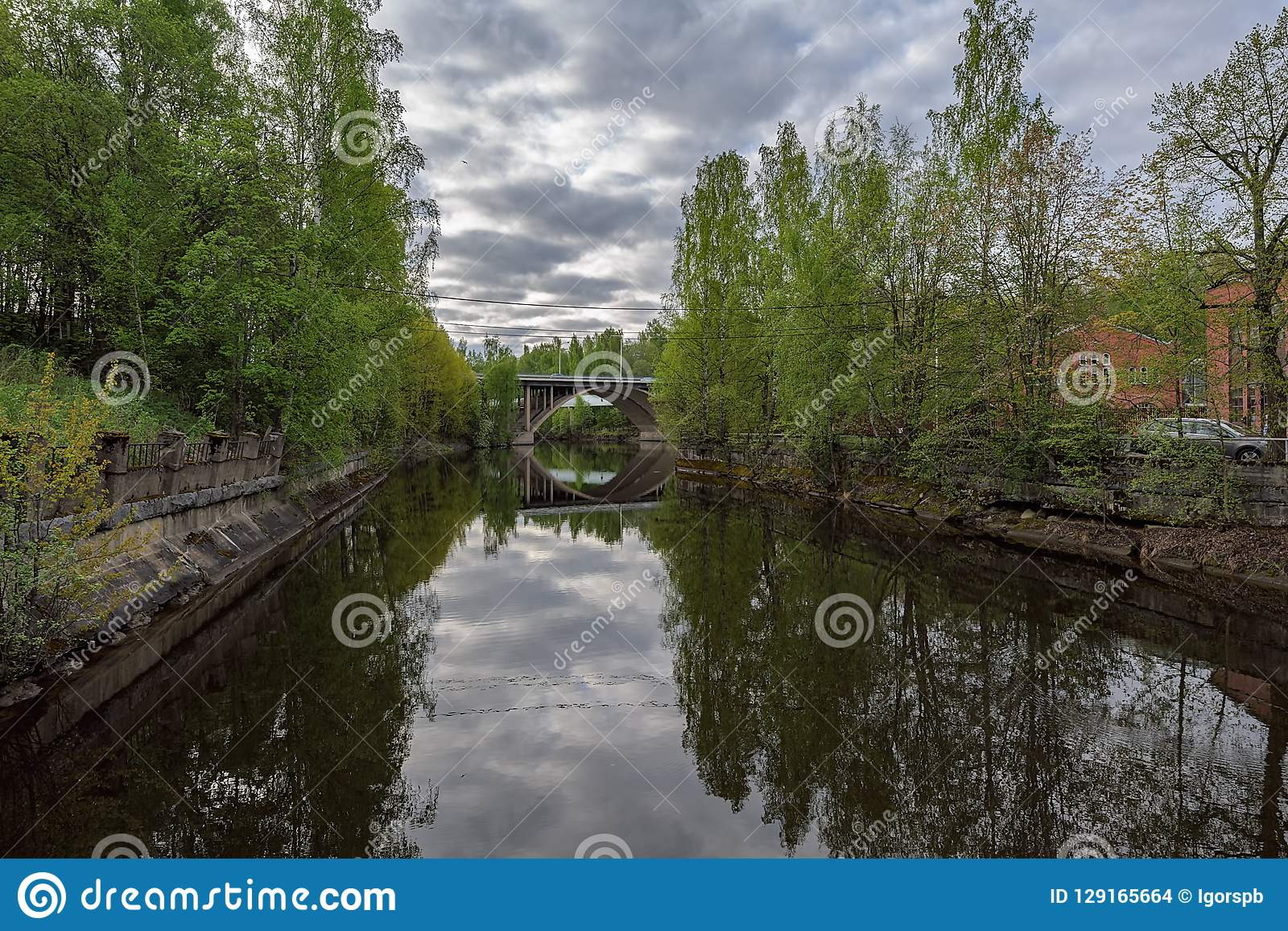 Nokia River Industrial Area Stock Photo - Image of finland