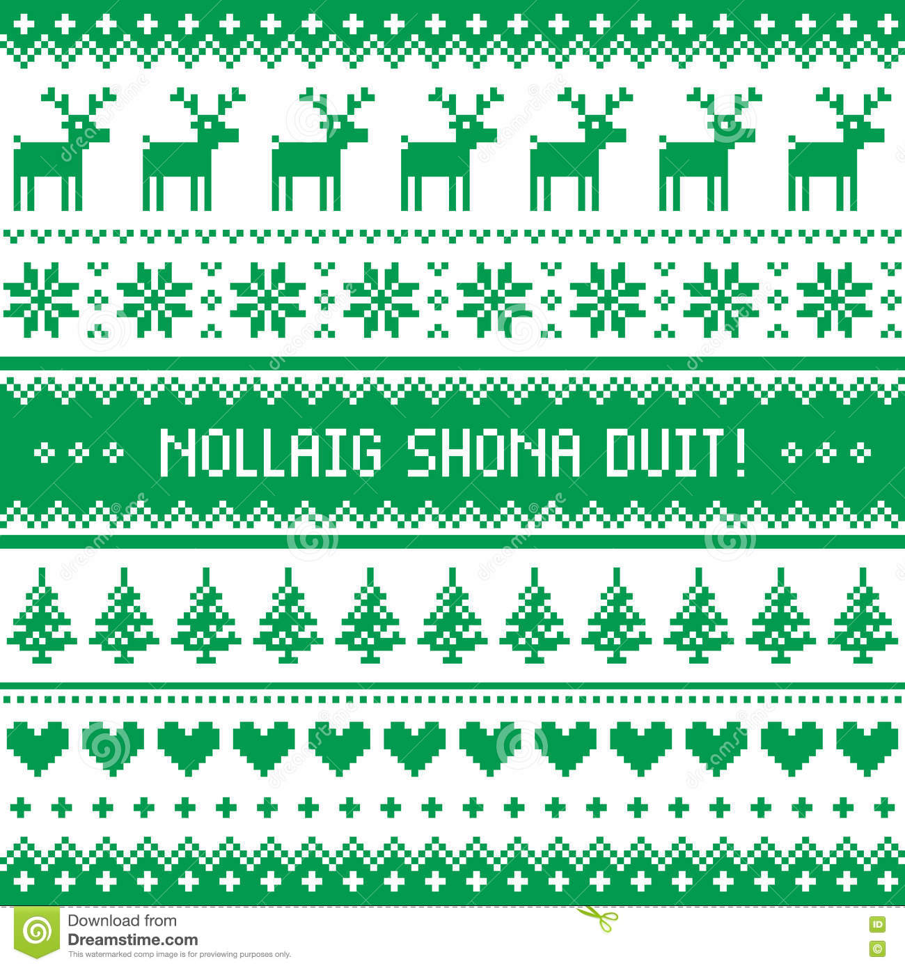 Nollaig shona duit merry christmas in irish pattern greetings nollaig shona duit merry christmas in irish pattern greetings card kristyandbryce Images