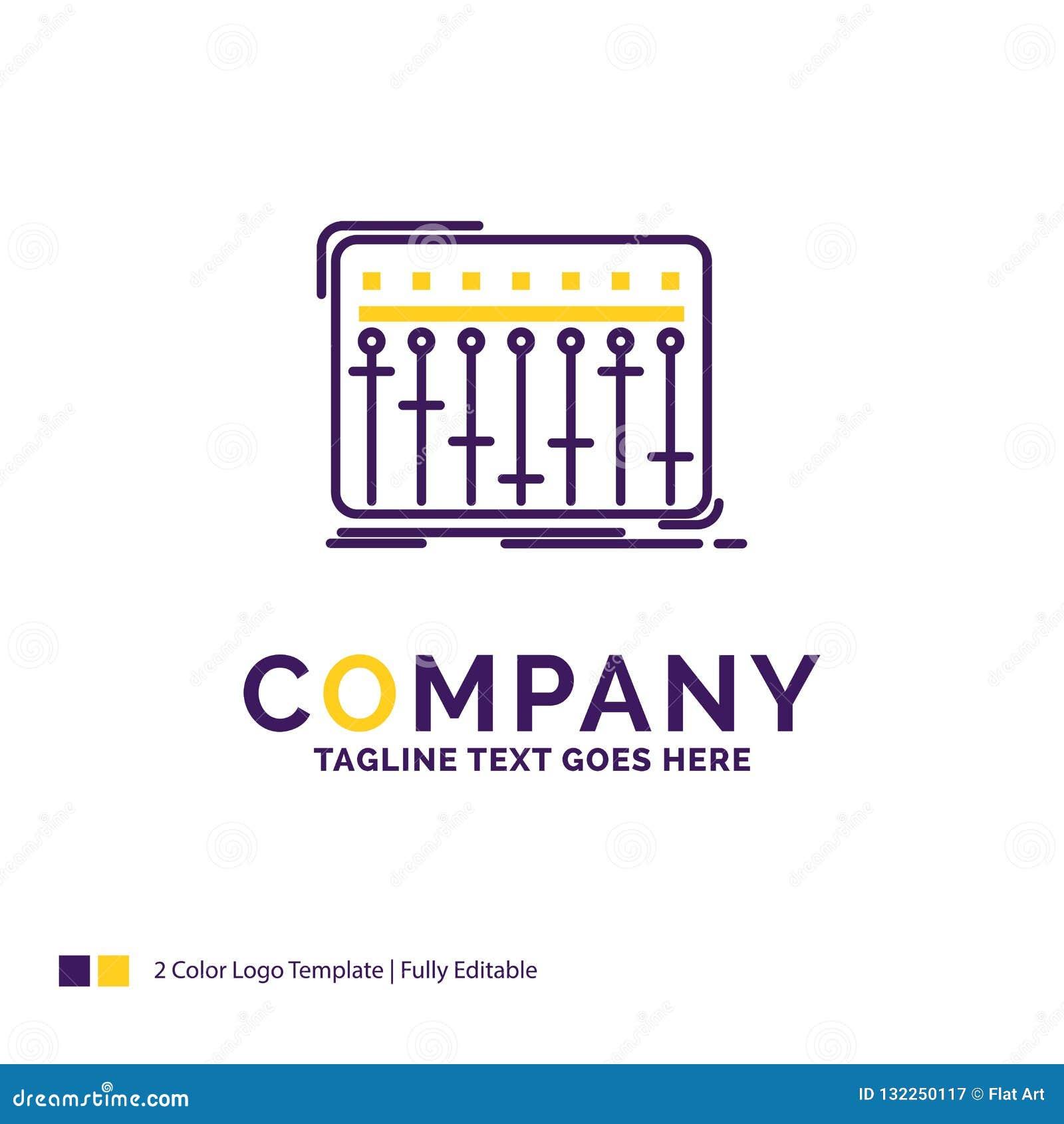 Nom de la société Logo Design For Console, DJ, mélangeur, musique, studio