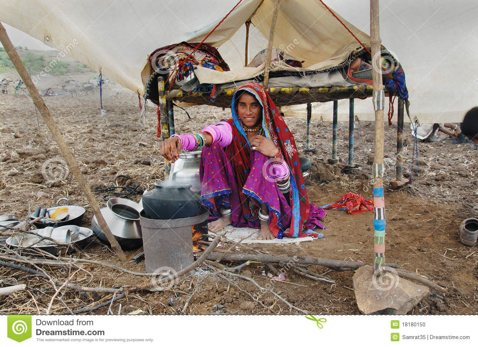 Nomad People In India Editorial Image | CartoonDealer.com ...