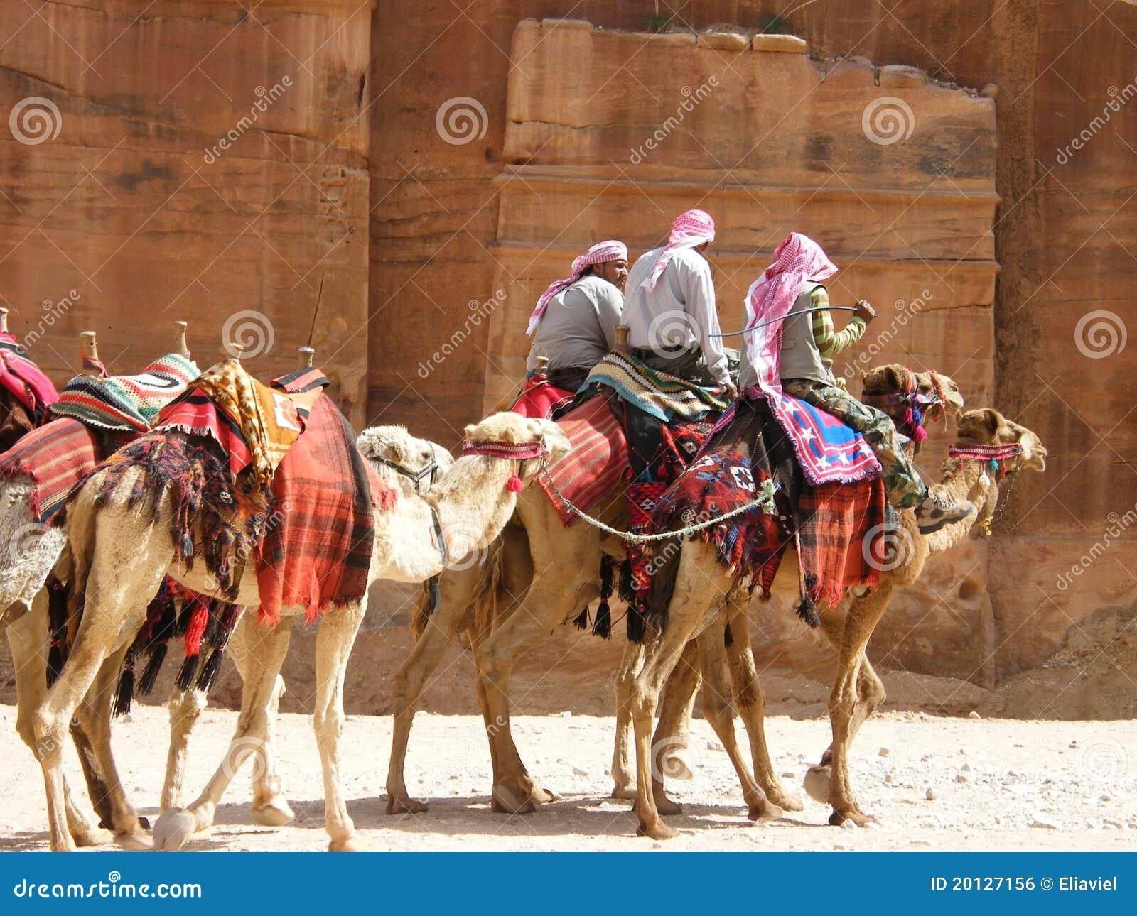 Nomads Caravan In Petra Editorial Photo - Image: 20127156