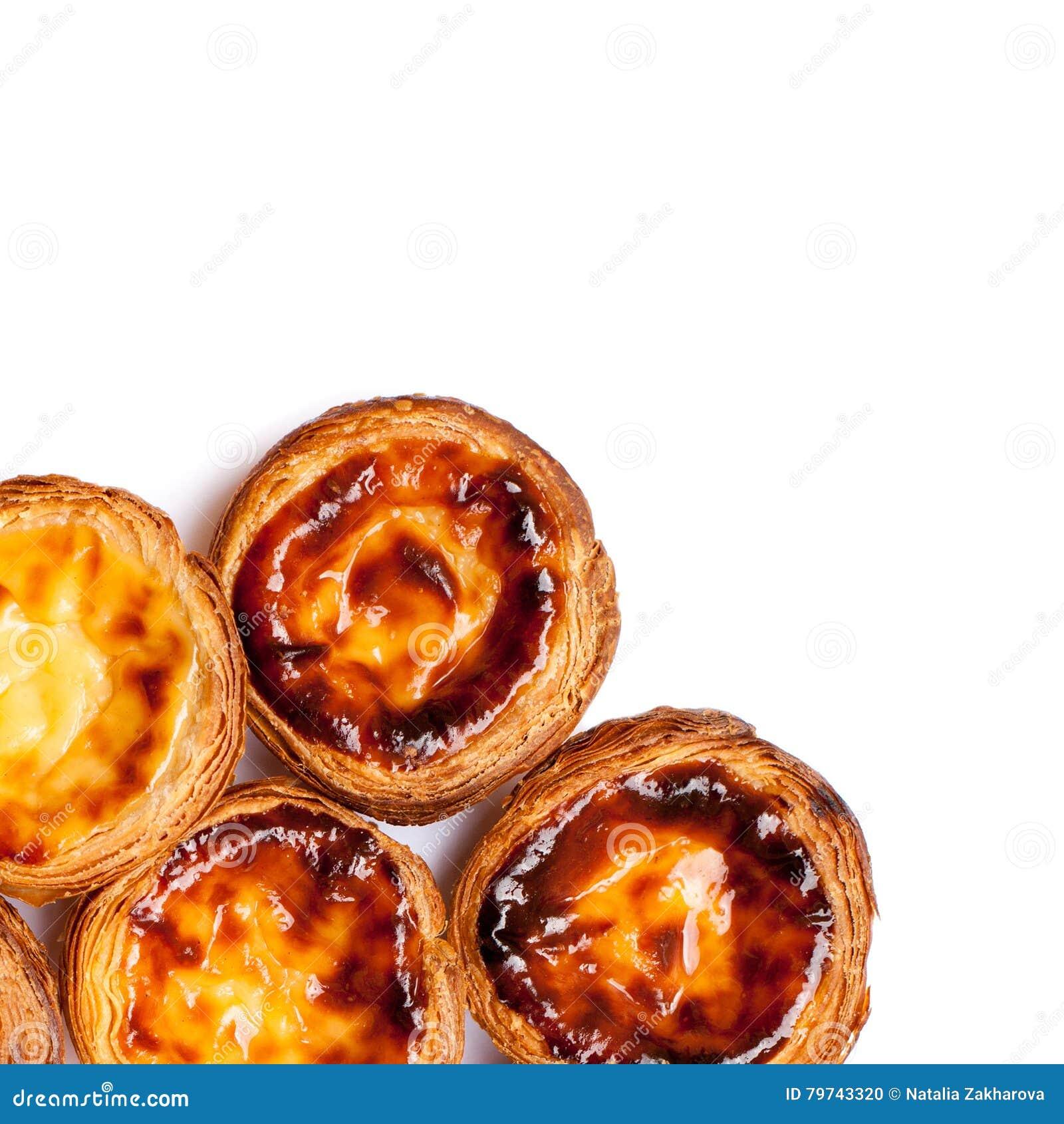 Nombre agrio Nata de la especialidad portuguesa tradicional aislado en pizca