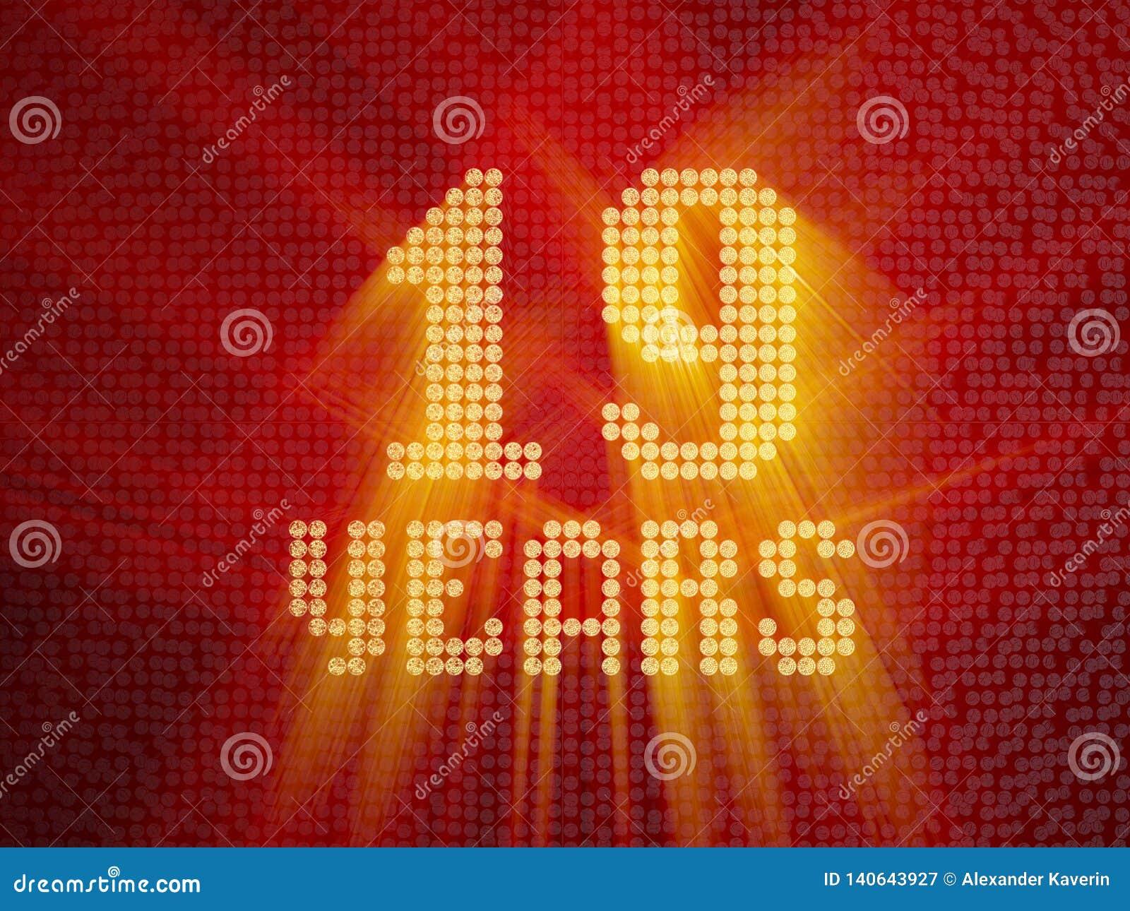 Nombre d or dix-neuf ans 3d rendent