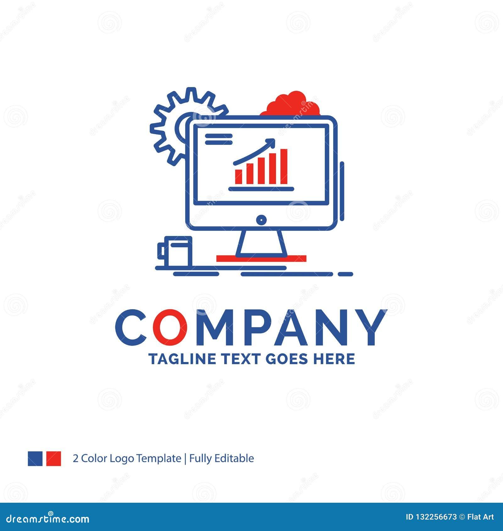 Nombre de compañía Logo Design For Analytics, carta, seo, web, ajuste