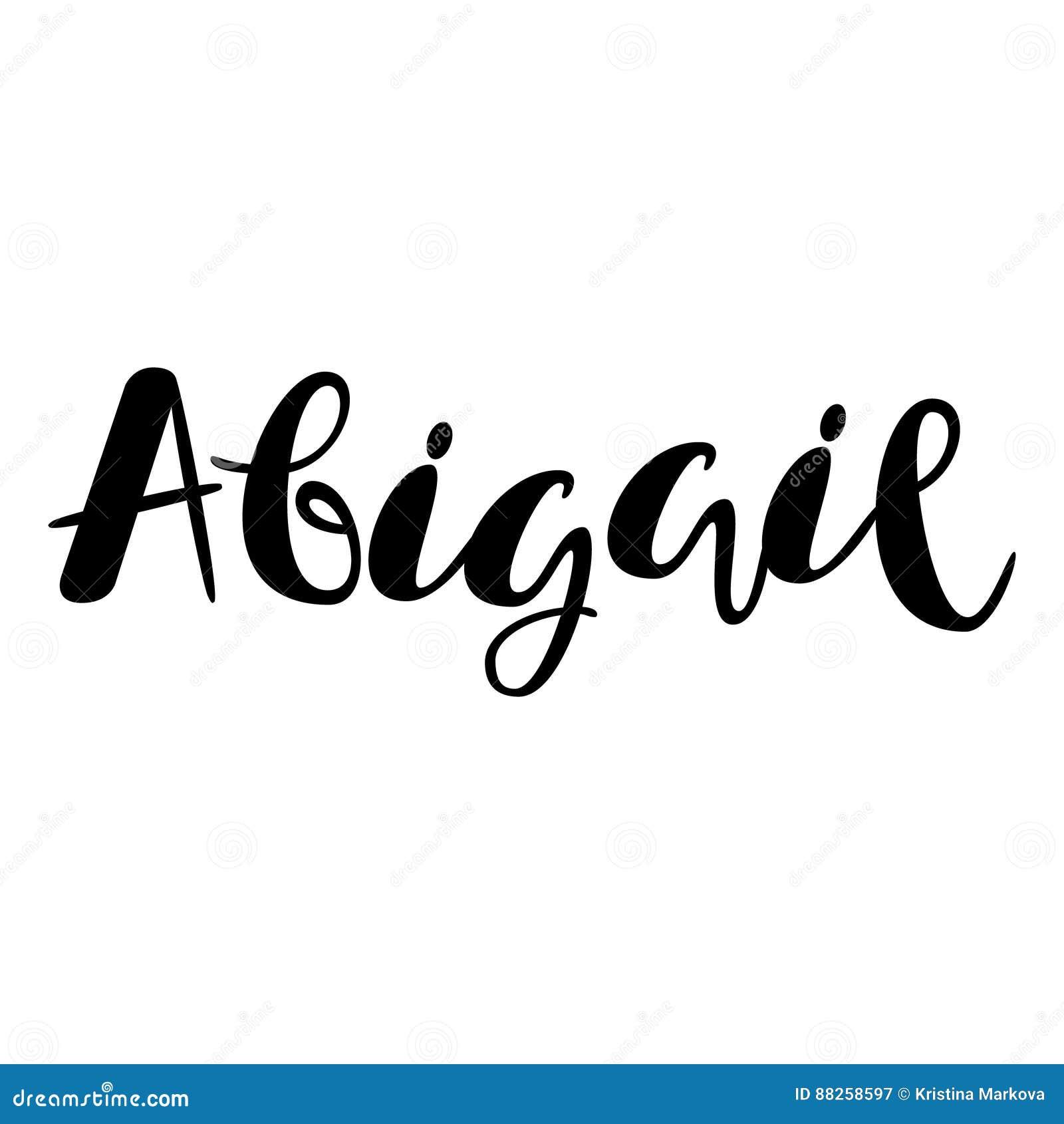 Abigail Tattoo Design