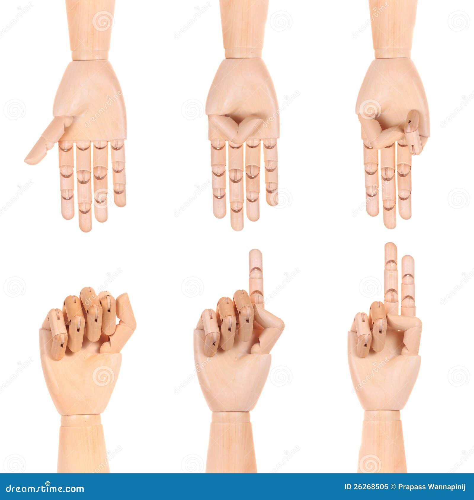 Nombre fictif en bois de main