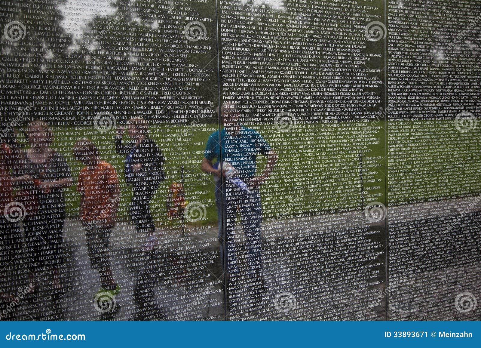 Nombres de las muertes de la guerra de Vietnam encendido