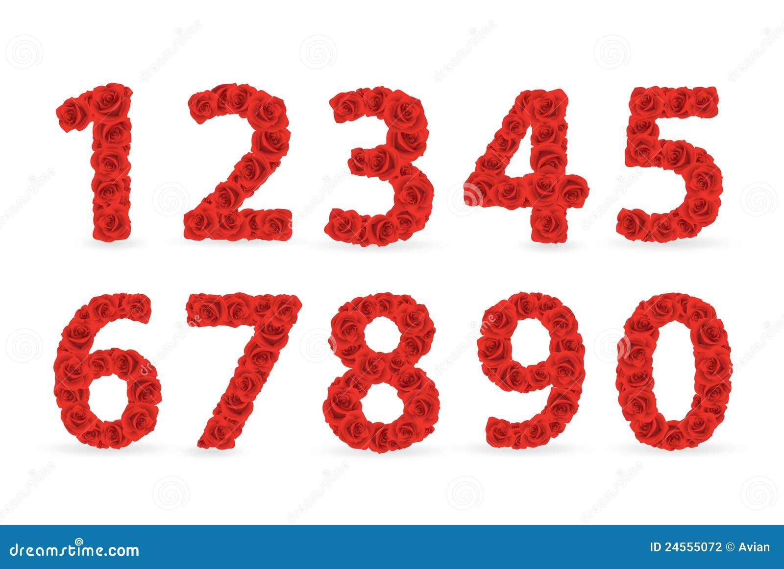 nombres rouges de roses illustration de vecteur illustration du fleur 24555072. Black Bedroom Furniture Sets. Home Design Ideas