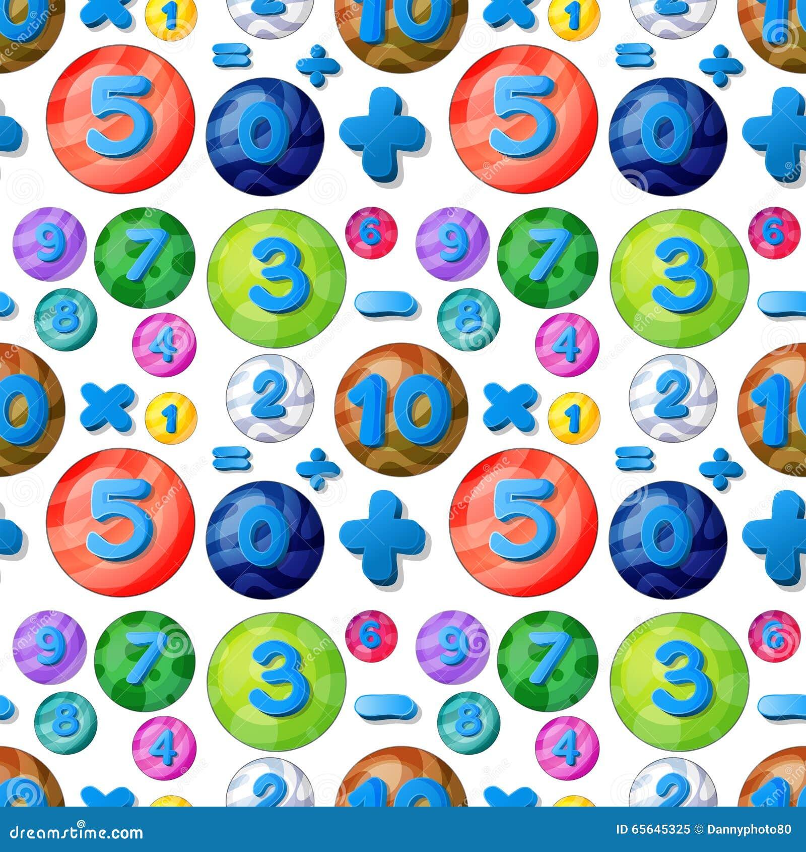 Nombres sans couture dans les bulles rondes