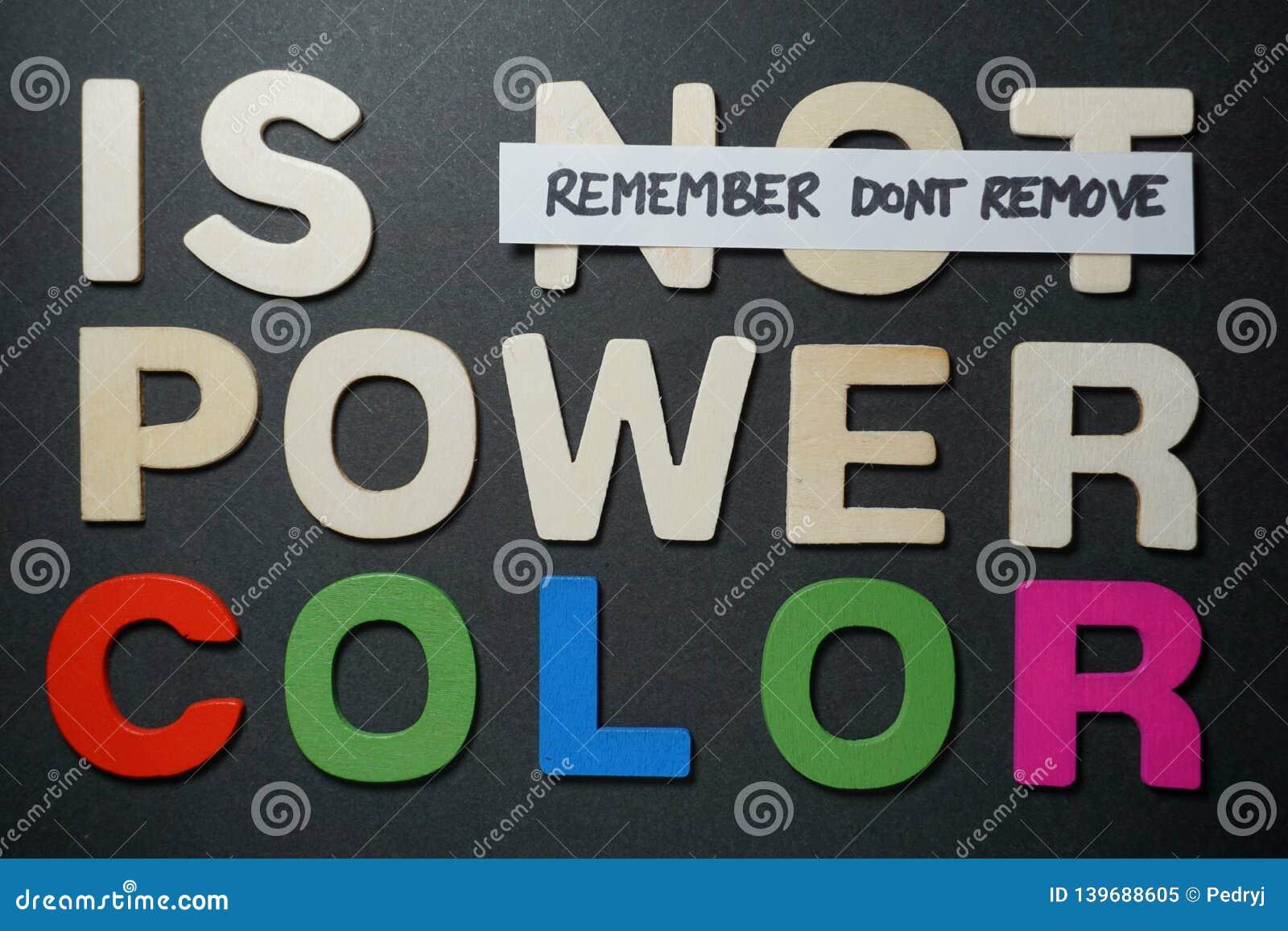 Non è il colore di potere