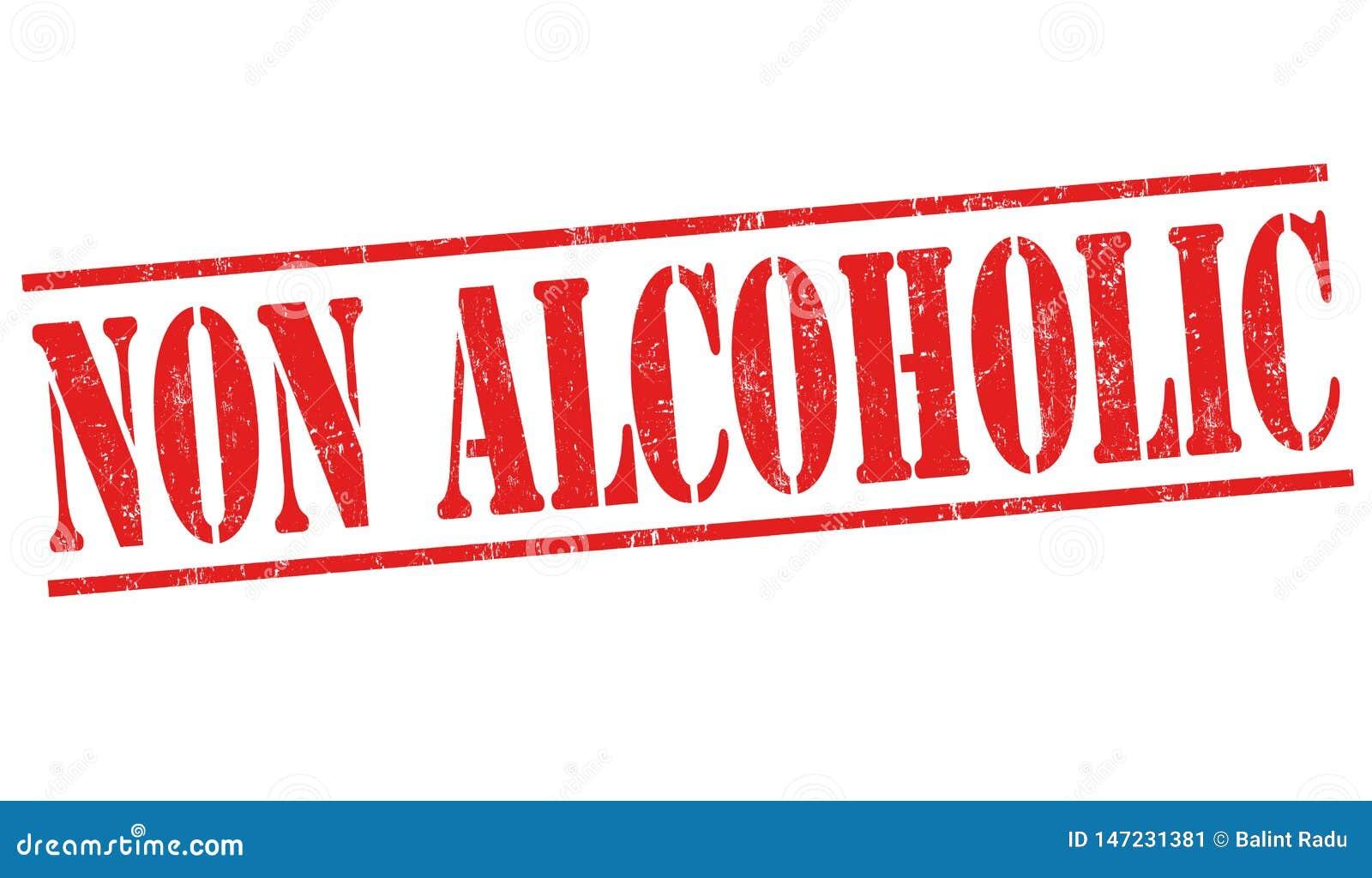 Non alkoholiczny znak lub znaczek