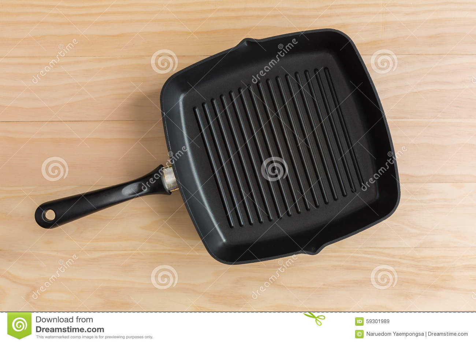 Non casserole de gril de bâton