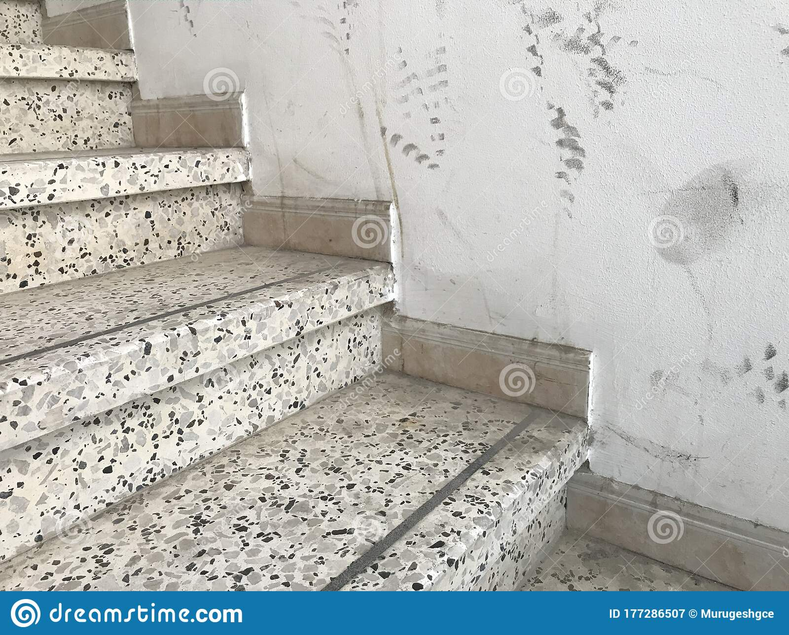 Non Continuous 100 Mm High Granite Tile Skirting Design For An Staircase Of An High Rise Residential Building Architecture Works Stock Image Image Of Finishes Smooth 177286507